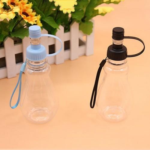 Plastic 220ml Pet Dog Cat Outdoor Water Feeding Bottle Portable Puppy Travel Drinking Bottle