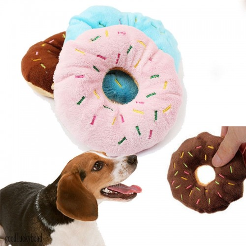 Cute Doughnut Style Sound Toy Dog Puppy Chewing Toy Pet Playing Toys